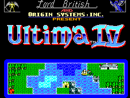 Ultima IV - Quest of the Avatar (Europe) Title Screen