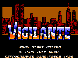 Vigilante (USA, Europe) Title Screen