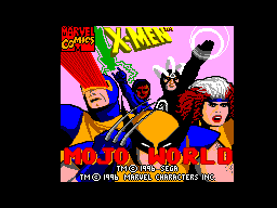 X-Men - Mojo World (Brazil) Title Screen