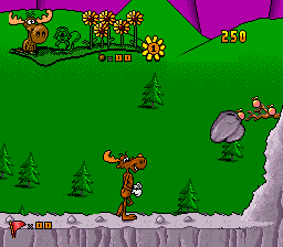 Adventures of Rocky and Bullwinkle and Friends, The (USA) In game screenshot