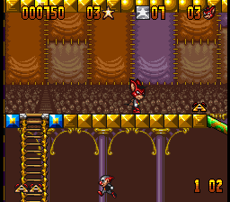 Aero the Acro-Bat (Europe) In game screenshot