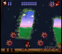 Aero the Acro-Bat 2 (USA) In game screenshot