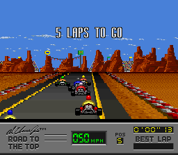 Al Unser Jr.'s Road to the Top (Europe) In game screenshot