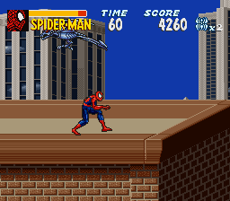 Amazing Spider-Man, The - Lethal Foes (Japan) In game screenshot