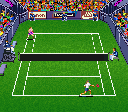 Andre Agassi Tennis (USA) In game screenshot