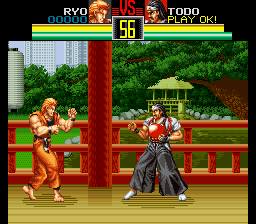 Art of Fighting (Europe) In game screenshot