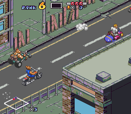 Biker Mice from Mars (Europe) In game screenshot