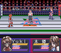 Bishoujo Wrestler Retsuden - Blizzard Yuki Rannyuu!! (Japan) In game screenshot