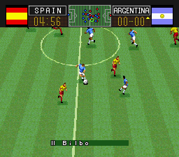 Capcom's Soccer Shootout (USA) In game screenshot