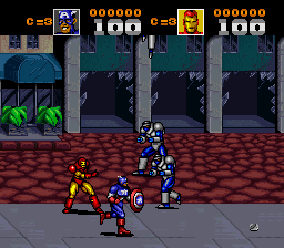Captain America and the Avengers (Europe) In game screenshot