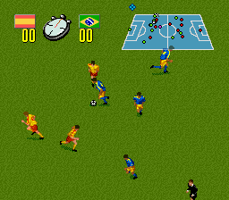 Champions World Class Soccer (Europe) (En,Fr,De,Es) In game screenshot