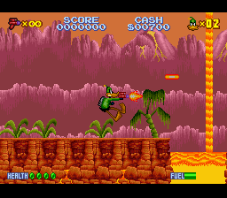 Daffy Duck - The Marvin Missions (Europe) In game screenshot