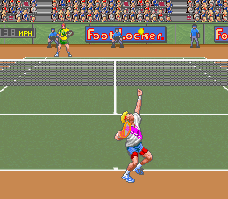 David Crane's Amazing Tennis (Europe) In game screenshot