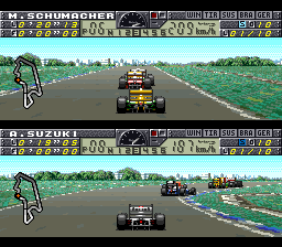 F1 Pole Position 2 (Europe) In game screenshot