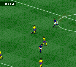 FIFA Soccer '96 (Europe) (En,Fr,De,Es,It,Sv) In game screenshot