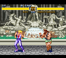 Fighter's History (Japan) In game screenshot