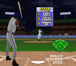 Frank Thomas Big Hurt Baseball (Europe) In game screenshot