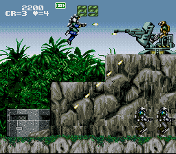 Gunforce - Battle Fire Engulfed Terror Island (USA) In game screenshot