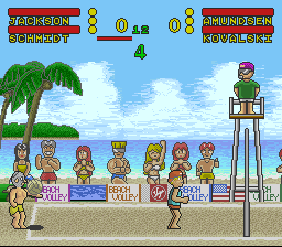 Inazuma Serve da! Super Beach Volley (Japan) In game screenshot
