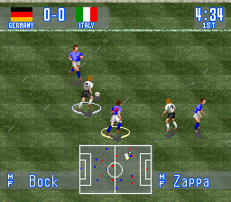 International Superstar Soccer (Europe) In game screenshot