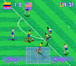 International Superstar Soccer Deluxe (USA) In game screenshot