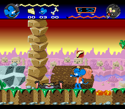 Itchy & Scratchy Game, The (Europe) In game screenshot