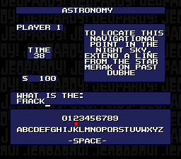Jeopardy! (USA) In game screenshot