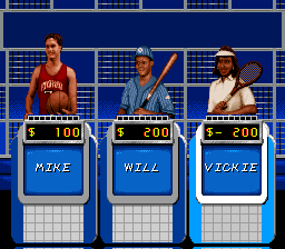 Jeopardy! - Sports Edition (USA) In game screenshot