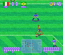 Jikkyou World Soccer 2 - Fighting Eleven (Japan) (Beta) In game screenshot