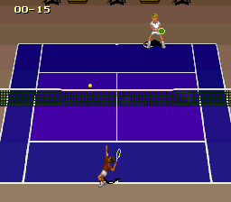 Jimmy Connors Pro Tennis Tour (France) In game screenshot