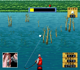 Jissen Bass Fishing Hisshouhou in USA (Japan) In game screenshot
