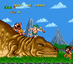 Joe & Mac (USA) In game screenshot