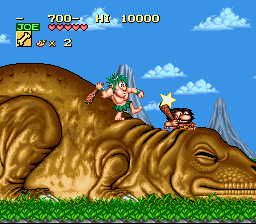 Joe & Mac - Caveman Ninja (Europe) (En,Fr,De,Es,It,Nl) In game screenshot