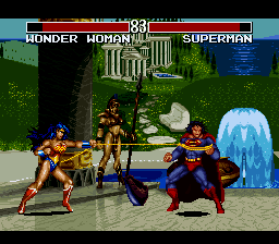 Justice League Task Force (Japan) In game screenshot