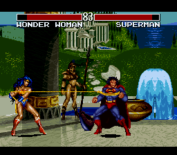 Justice League Task Force (USA) In game screenshot