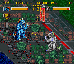King of the Monsters (USA) In game screenshot