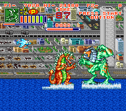 King of the Monsters 2 (USA) In game screenshot