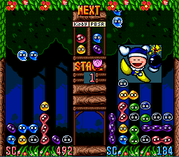 Kirby's Avalanche (USA) In game screenshot