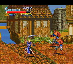 Knights of the Round (USA) In game screenshot