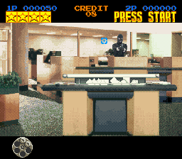 Lethal Enforcers (Europe) In game screenshot