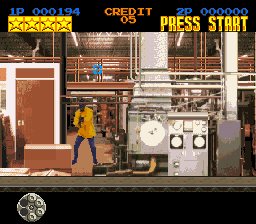 Lethal Enforcers (USA) In game screenshot