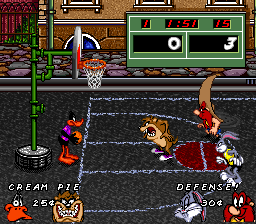 Looney Tunes Basketball (Europe) In game screenshot