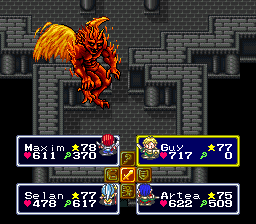 Lufia & The Fortress of Doom (USA) In game screenshot