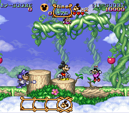 Magical Quest Starring Mickey Mouse, The (USA) (Beta) In game screenshot