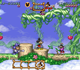 Magical Quest Starring Mickey Mouse, The (USA) In game screenshot