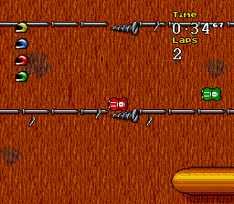 Micro Machines 2 - Turbo Tournament (Europe) In game screenshot