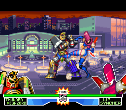 Mighty Morphin Power Rangers - The Fighting Edition (Europe) In game screenshot