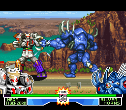 Mighty Morphin Power Rangers - The Fighting Edition (USA) In game screenshot