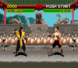 Mortal Kombat (Europe) In game screenshot