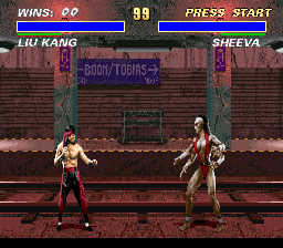 Mortal Kombat 3 (Europe) (Beta) In game screenshot